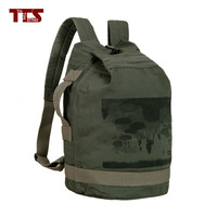 freeshipping cotton Canvas backpack women men casual travel shoulder bag school mountaineering tote handbag simple style bucket