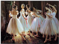 Free shipping!! High Quality Ballet character oil painting craft art paintings