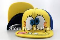 Nickelodeon SPONGEBOB Big Face with Rubber Peak Child Snapback hat  caps baseball  snapbacks cap adjustable hats A(2)