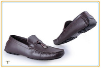 2014 New Men Leather Flats Brand Boat Shoes Fashion Loafers Sneakers size 40-46