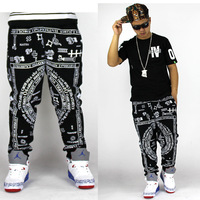 2013 fashion Bandana Print pants male fashion personality male casual pants trousers
