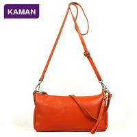 Kaman2013 first layer of cowhide one shoulder handbag cross-body women's genuine leather female hand to take small bags