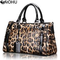 2013 women's cowhide handbag fashion leopard print women's bags hot-selling commercial portable