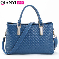 Genuine leather women's handbag fashion knitted fashion first layer of cowhide 2013 handbag bag