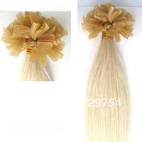 , Free Shipping , Queen hair Brazilian hair U-tip Pre-Bonded Hair ,  1g/Piece, 100g/Pack, 3Packs/Lot, Strong keratine