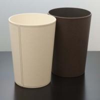 Leather fashion hipce garbage bucket waste basket home supplies storage bucket