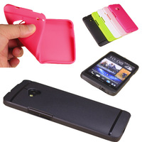 Wholesales,Free shipping,10PCS/LOT,5 colors New 0.3mm Ultra Thin Matte Soft Cover Case For HTC ONE M7 + LCD Screen Protector