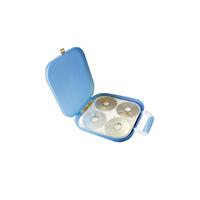 Hipce cd book portable translucent cd box cdhpp-120