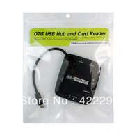 New Arrival,Free Shipping 20pcs/lot Micro USB Type Hub and Card Reader Suitable for Samsung Galaxy S3/S4/Note2