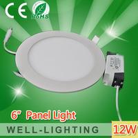 Round 12W led panel light Bright LED Recessed Ceiling light  Panel Down Light Bulb Lamp smd2835,AC85-265V