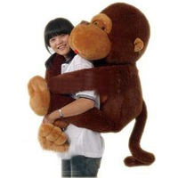 Brown 110cm Big Mouth Monkey Plush Toy Unisex Stuffed Toys Fashion Lovely Cushion Soft toys
