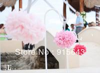 "Free shipping 30pcs 35cm/14"" Tissue Paper Pom Poms Wedding Party Home Decor Craft, Mix colors uPick"