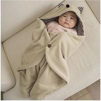 New infant baby boys girls fleece Blanket Swaddle Sleeping Bag Wrap  size:0-1years