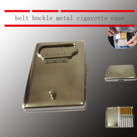 belt buckle style  cigarette case   freeshipping by Fast way. New style novely cigarette case new design cigarette box,