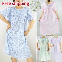 Free Shipping 2014 nighty Summer sexy ladies pajama set women short sleeve sleepwear women's cotton nightgown Pajama Sets