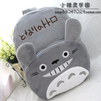 2013 new plush toys Cartoon totoro plush  school  shiralee  kids bags girls backpack Free shipping