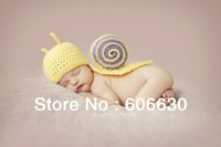 Two color effective Infant Baby Crochet Snail Hats Newborn Photography Beanies Baby Crochet Animal Hats Caps