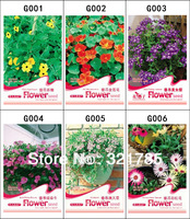 173 Seeds 6 Different Hanging Semi-Trailing Flower Seeds Beautiful HOT Seeds Free shipping