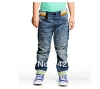2013 autumn boy child models in Europe and America of the original single children's clothing jeans boy pants stitching trousers