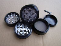 4 Layer Windows HERB GRINDER Spice hand Muller Grinder G108-Black