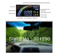 2013 New Universal ActiSafety Multi Car HUD Vehicle-mounted Head Up Display System OBD II Fuel Consumption Overspeed Warning