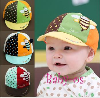 2013 New Arrival baby hat /cap infant cap bee style Hats Skull Caps Toddler Boys & Girls children's baseball cap peaked cap