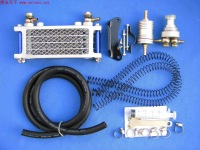 Free Shipping Hot Refires gy6 motorcycle oil cooler radiator simple , kit