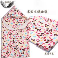 Baby 100% cotton summer print sleeping bag baby anti tipi child air conditioning adjustable length sleeping bag