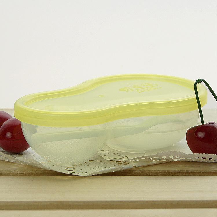 Baby bowl food grinding bowl dismembyator baby training bowl spoon lid f18(China (Mainland))