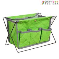 Storage basket desktop multifunctional storage rack bamboo storage basket cosmetics finishing storage rack