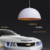 Lamps dome light brief modern dining room pendant light gold lighting semi-cirle lamp cover pendant lamp