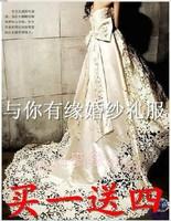 Quality bright satin slim full cutout car tube top fashion vintage the royal train wedding dress