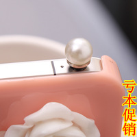 Free shipping,Min. order is $5,Pearl dust plug dust plug mobile phone dust plug general dustproof plug earphones hole