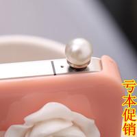 Free shipping,Min. order is $5,Pearl dust plug dust plug mobile phone dust plug general dustproof plug earphones hole