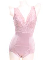 Milk silk fabric lace slim waist one piece shaper belt cup