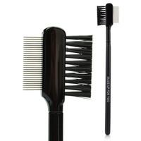 Free Shipping Black Steel Cosmetic Makeup Brush Long Rod Eyelash Brush Eyelash Comb Eyebrow Comb