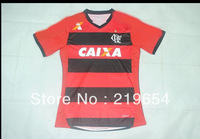 ^_^  13-14 new Flamengo home  thai  top quality  3a+ embroidery LOGO  soccer jerseys free shipping shirts