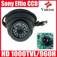 Vanxse CCTV Sony Effio-E CCD 24IR 700TVL Indoor Dome Security camera 3.6mm wide lens D/N  OSD Surveillance camera