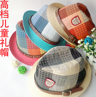 2013 spring and summer child male jazz hat strawhat hat all-match sunbonnet 70