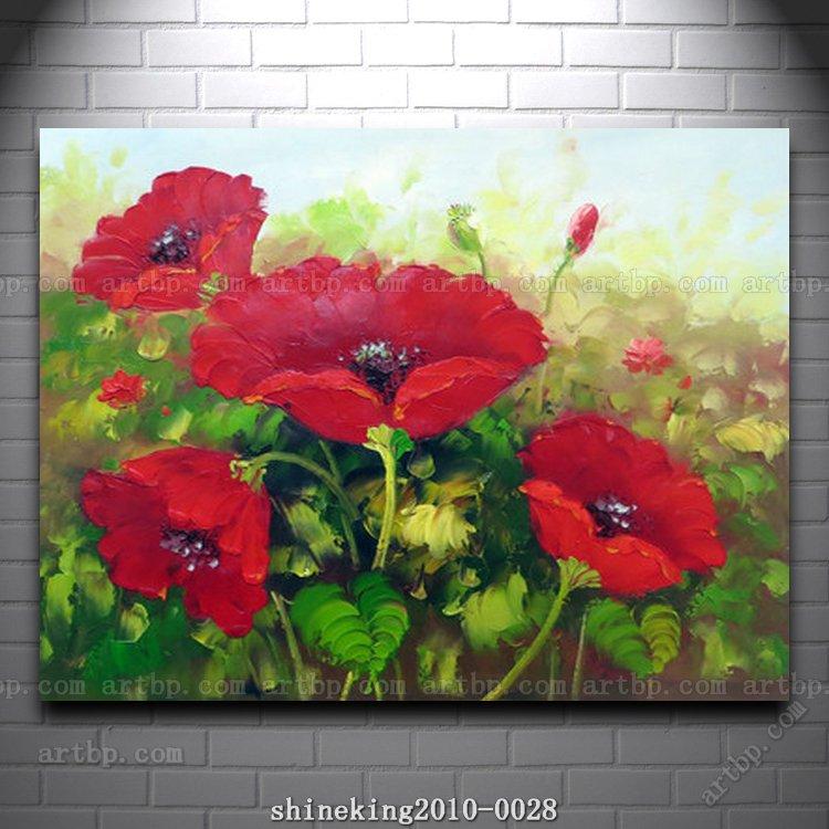 Famous Flower Paintings Beautiful Flower Oil Painting Modern Art Canvas Painting Art Deco Famous