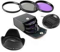 67mm UV+CPL+FLD Lens Filter+lens cap+len hood for canon nikon pentax sony camera