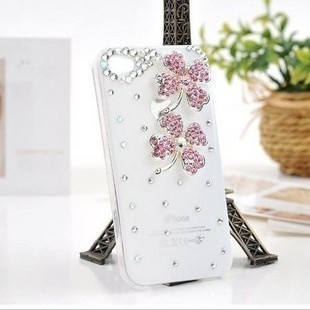 2014 3D clover flower Diamond Luxury Crystal Bling Back Cover for zopo c2 zp980 ZP980+ case+HongKong free shipping phone cases