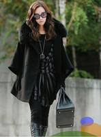 Free shipping 2013 New Women Faux Fur fox Hair Lady Warm Coat Jacket Fluffy Short wool Outwear Belted overcoat/1 pcs