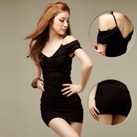 2013 summer women's fashion sexy strapless 100% cotton one-piece dress slim hip slim