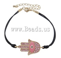 Free shipping!!!Zinc Alloy Bracelet,One Direction, with Wax Cord, zinc alloy lobster clasp, gold color plated