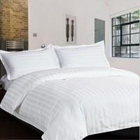 Pure cotton white satin sheets bedding bag pillowcase