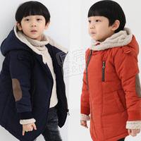 2012 winter patch zipper style boys clothing baby cotton-padded jacket wadded jacket wt-0770