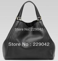 New  Genuine calfskin Soho Medium Shoulder Bag 282309  Black totes handlbags