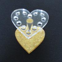 free shipping by FEDEX EMS Heart shape nail brush stand&round nail brush holder&acrylic brush display
