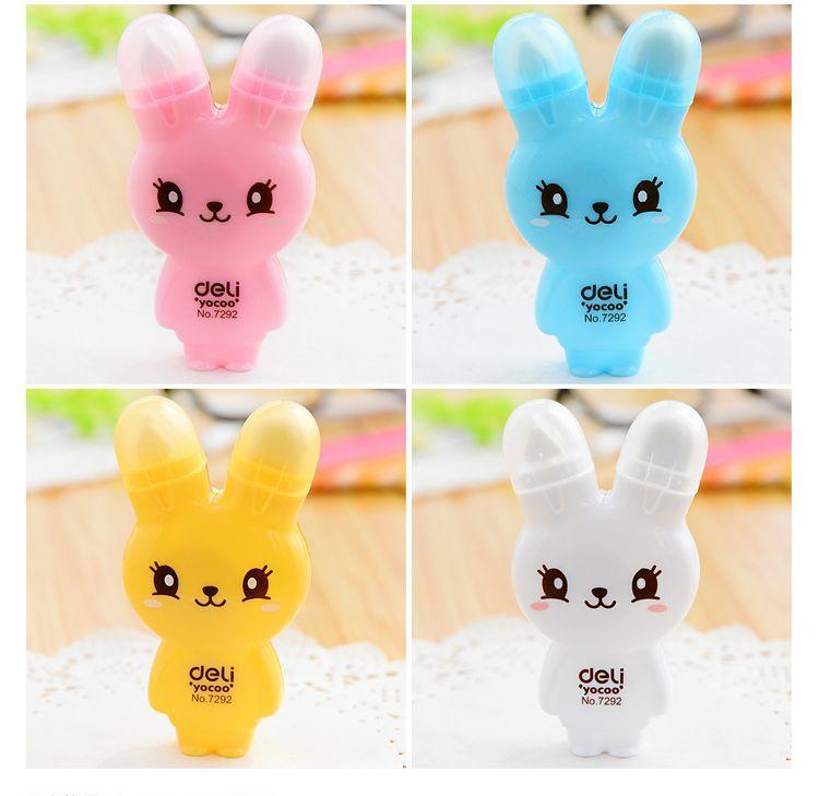 Novelty Kawaii Rabbit School Correction Tape/Correction Roller Corrector Eraser Set Stationery-Gift 84Pcs/Lot Free Shipping(China (Mainland))